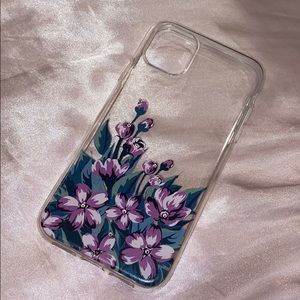 Clear Floral iPhone 11 phone case